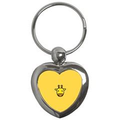 Cute Face Giraffe Key Chains (Heart)