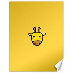 Cute Face Giraffe Canvas 18  x 24