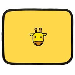 Cute Face Giraffe Netbook Case (XXL)