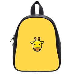 Cute Face Giraffe School Bags (Small)