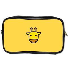 Cute Face Giraffe Toiletries Bags 2-Side