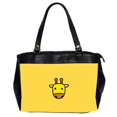 Cute Face Giraffe Office Handbags (2 Sides)