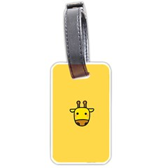 Cute Face Giraffe Luggage Tags (One Side)