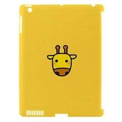 Cute Face Giraffe Apple iPad 3/4 Hardshell Case (Compatible with Smart Cover)