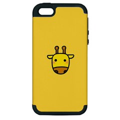Cute Face Giraffe Apple iPhone 5 Hardshell Case (PC+Silicone)