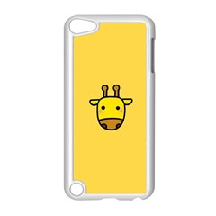 Cute Face Giraffe Apple iPod Touch 5 Case (White)