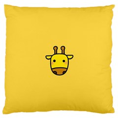 Cute Face Giraffe Large Flano Cushion Case (Two Sides)