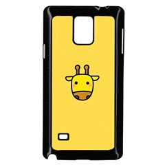 Cute Face Giraffe Samsung Galaxy Note 4 Case (Black)