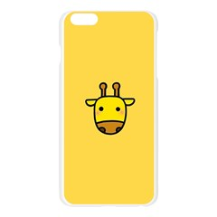 Cute Face Giraffe Apple Seamless iPhone 6 Plus/6S Plus Case (Transparent)
