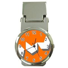 Cute Orange Chevron Money Clip Watches