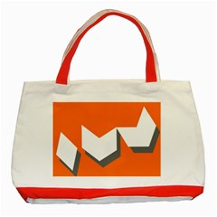 Cute Orange Chevron Classic Tote Bag (Red)