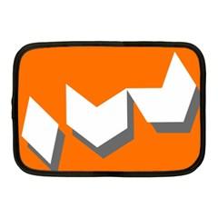 Cute Orange Chevron Netbook Case (Medium)