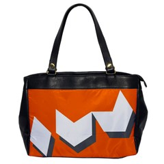 Cute Orange Chevron Office Handbags