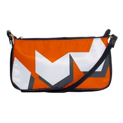 Cute Orange Chevron Shoulder Clutch Bags