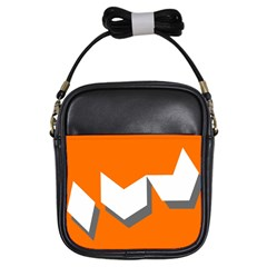 Cute Orange Chevron Girls Sling Bags