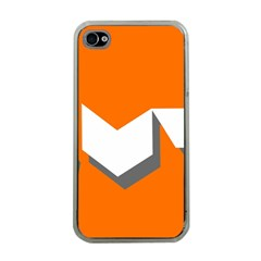 Cute Orange Chevron Apple iPhone 4 Case (Clear)