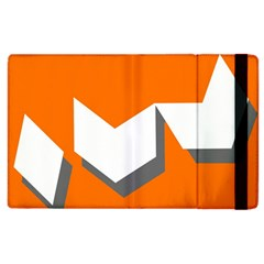 Cute Orange Chevron Apple iPad 2 Flip Case