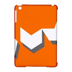 Cute Orange Chevron Apple iPad Mini Hardshell Case (Compatible with Smart Cover)