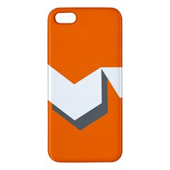 Cute Orange Chevron Apple iPhone 5 Premium Hardshell Case