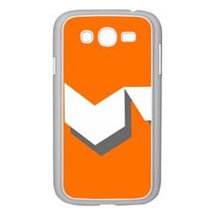 Cute Orange Chevron Samsung Galaxy Grand DUOS I9082 Case (White)