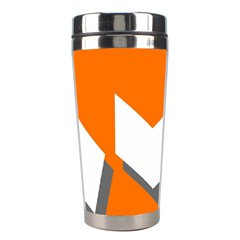 Cute Orange Chevron Stainless Steel Travel Tumblers
