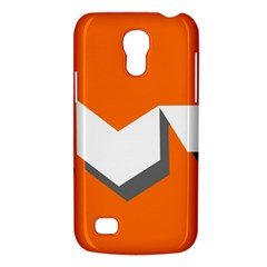 Cute Orange Chevron Galaxy S4 Mini