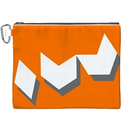 Cute Orange Chevron Canvas Cosmetic Bag (XXXL)
