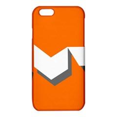 Cute Orange Chevron iPhone 6/6S TPU Case