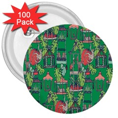 Animal Cage 3  Buttons (100 pack)