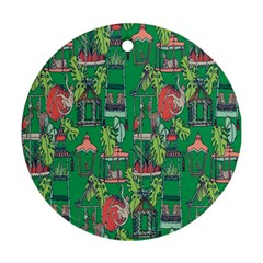 Animal Cage Round Ornament (Two Sides)