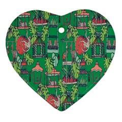 Animal Cage Heart Ornament (2 Sides)