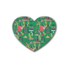 Animal Cage Rubber Coaster (Heart)