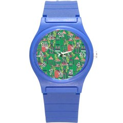 Animal Cage Round Plastic Sport Watch (S)