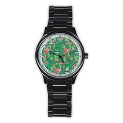 Animal Cage Stainless Steel Round Watch