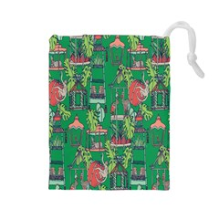 Animal Cage Drawstring Pouches (Large)