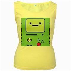 Cute Calculator Women s Yellow Tank Top