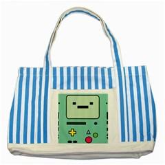 Cute Calculator Striped Blue Tote Bag