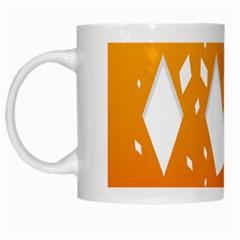 Cute Orange Copy White Mugs