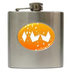 Cute Orange Copy Hip Flask (6 oz)
