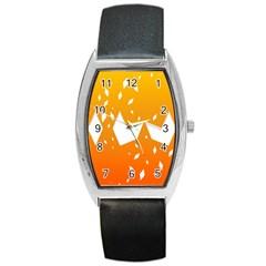 Cute Orange Copy Barrel Style Metal Watch
