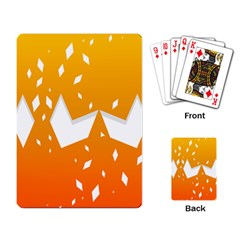 Cute Orange Copy Playing Card