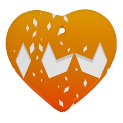 Cute Orange Copy Heart Ornament (2 Sides)