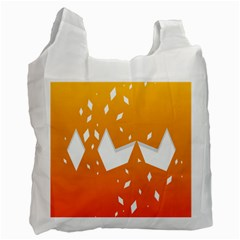 Cute Orange Copy Recycle Bag (One Side)