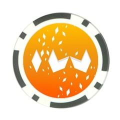 Cute Orange Copy Poker Chip Card Guards (10 pack)