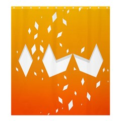 Cute Orange Copy Shower Curtain 66  x 72  (Large)