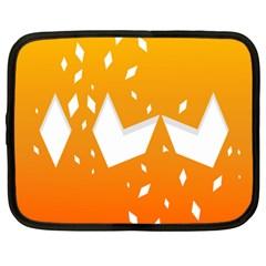 Cute Orange Copy Netbook Case (XL)