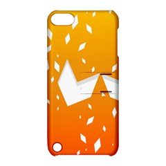 Cute Orange Copy Apple iPod Touch 5 Hardshell Case with Stand