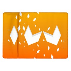Cute Orange Copy Samsung Galaxy Tab 10.1  P7500 Flip Case