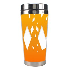 Cute Orange Copy Stainless Steel Travel Tumblers