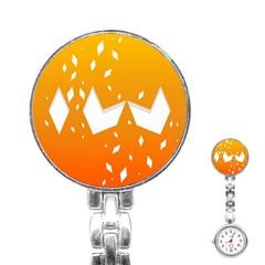 Cute Orange Copy Stainless Steel Nurses Watch